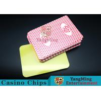 Buy cheap PVC plastic Casino Poker Playing Card Die Cutting Card With Custom Quality And Pro Service Four Color product