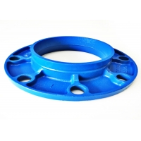 Buy cheap C606 Grooved Cast Iron Flange Adapter , DN20mm Fire Sprinkler Pipe Welding product