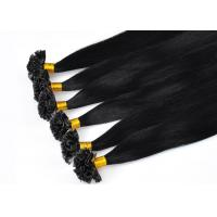 Buy cheap Glossy Pre Bonded V Tip Hair Extensions Double Drawn 100% Unprocessed Comb Easily product