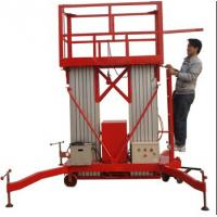 Buy cheap Diesel control mobile aerial work platform,vertical man lift for sale product