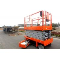 Buy cheap Mobile Self Propelled Scissor Lift Aerial Work Platform For Aircraft Maintenance / Manufacturing product