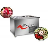 Buy cheap Commercial Fried Ice Cream Roll Machine Manual Defrosting Stainless Steel 304 Body product