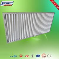 Buy cheap High Air Flow Pleated Panel Air Filters Industrial Air Purifier With Washable Filter product