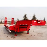 Buy cheap CIMC 60 t hydraulic low bed trailer excavator transport semi trailer dimension of 16m 3 axles product