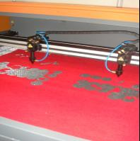 Buy cheap Clothing Embroidery Laser Cutting Machine Two Heads Professional Controlling product