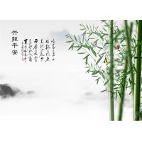 Buy cheap Water Proof Bamboo Fiber Board Chinese Style Bamboo With Poems Landscape product