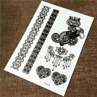 Buy cheap Removable Temporary Henna Hand Tattoos Stickers Black Color Lace Skin Safe product
