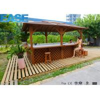 Buy cheap 73pcs Massage Jets Outdoor Swim Whirlpool Massage Bathtub with Wood/ Stainless Steel Frame product