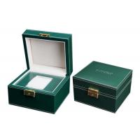 Empty Wooden PU Leather Watch Box MDF Wrapped Velvet Inside 295 X 85 X 40mm
