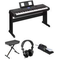 Buy cheap In Stock and free shipping Yamaha DGX-660 88-Key Digital Piano Kit with Bench, Pedal & Headphones (Black) product