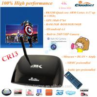 Buy cheap Android TV box in Rk3288 Quad Core A17 Support 4K*2k H.265 Smart Set top box with HDMI USB VGA port with 2MP camera product