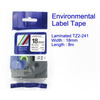 Buy cheap Laminated Label And Ribbon Tape Black on White TZ2-241 Environmental Material product
