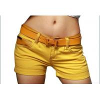 China Low Rise Yellow Shorts on sale