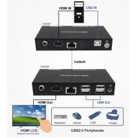 Buy cheap HDMI 1080P + USB2.0 KVM Extender and USB2.0 Hub and Support POC Extender product