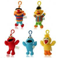China Cute Sesame Street Plush Keychain Stuffed Toys with Hook For Promotion Gifts on sale