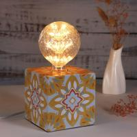 Buy cheap Exclusively design Cube iron Table Lamp bedside lamp with retro sticker with 3 from wholesalers