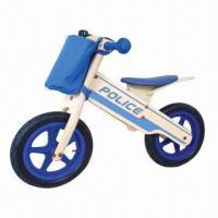"""Buy cheap Wooden 12"""" bike, police style with bell and bag product"""