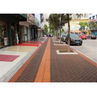 Outside Walkway Red Clay Paving Brick for Road Paving Smooth Face / Low Water Absorption