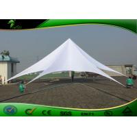 Buy cheap Fire Retardant White Star Shaped Shade Tent Canopy Diameter 16m With CE product