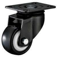 Buy cheap Pressed Steel Black Finished Bracket 2 Inch Swivel Plate Furniture Castor Wheels product