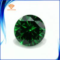 Buy cheap Artificial emerald stone round shape loose cz gemstone with 3a quality Grade product