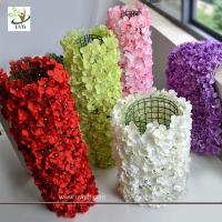 Buy cheap UVG wall decoration flower backdrop in fake hydrangea petals for wedding backdrop ideas from wholesalers