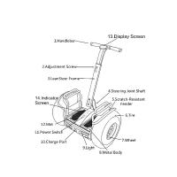 Buy cheap Durable 21 Inch Segway Electric Scooter With Double Battery And App Control product