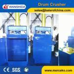 Buy cheap China Wanshida Waste Painting Oil Drum Compactors Baling Press Factory Price product