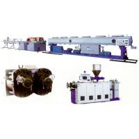 Quality PVC Plastic Pipe Extrusion Line , PVC Twin Pipe Machine Plastic / Extruder for sale