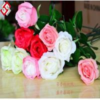 Buy cheap high quality single long stem artificial silk rose product