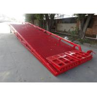 Buy cheap Single Safety Fence design Mobile Yard Ramp For Container or Truck from wholesalers