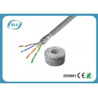 Buy cheap SFTP Cat5e Lan Cable 4 Pairs Pure Copper STP Solid 24AWG With Al- Foil 350MHZ product