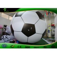 Buy cheap Custom Inflatable Football Soccer Items Design White And Black product