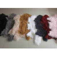 Buy cheap Mongolian sheepskin Hide 100% Long hair Tibet Lamb fur Curly wool plate Cover from wholesalers
