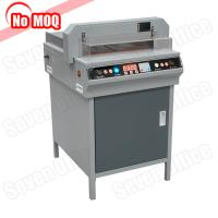 Buy cheap NO MOQ heavy duty high speed electric paper cutting machine program control guillotine paper cutter manufacturer product