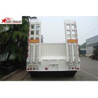 China High Point Load Low Flatbed Semi Trailer With Mechanical Suspension on sale
