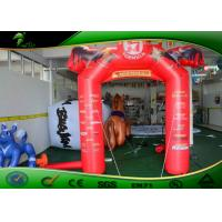 Buy cheap Customizable Logo Inflatable Racing Finish Line Advertising Arch With Cock Shape product