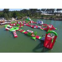 Buy cheap Red and Green Moving Inflatable Aqua Water Park For Sea Or lake product