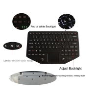 Buy cheap Robust ABS IP65 Mountable Industrial Keyboard With Touchpad Backlit product