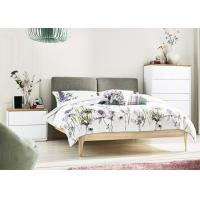 Buy cheap Ash Wood + MFC Modern Bedroom Furniture Sets With Fabric Bed Head 3 Years from wholesalers