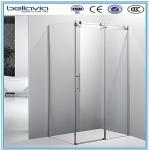 Buy cheap Big wheels, sliding opening aluminium profiles for shower enclosures corner shower doors shower room product