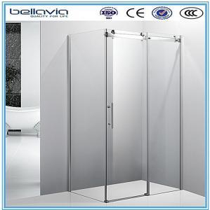 Buy cheap Big wheels, sliding opening aluminium profiles for shower enclosures corner shower doors shower room from wholesalers