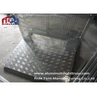 Heavy Duty Pedestrian Control Barriers 6061-T6 Aluminum Millfinish Silver Surface