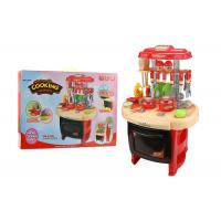 Buy cheap Red Color Pretend Play Childrens Toy Kitchen Sets With Sound And Light 62CM product