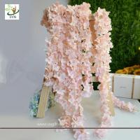 Buy cheap UVG 2m long romantic classic silk flowers artificial wisteria garland for wedding decor product
