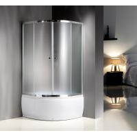 Buy cheap 4mm Tempered Fabric Glass Quadrant Shower Enclosures With Handle / Wheels product