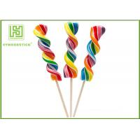 Buy cheap Biodegradable Wooden Lollipop Sticks With Ball Hot Stamping Logo Printed product