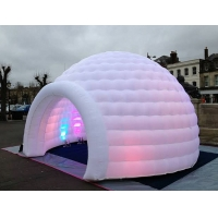 Buy cheap 3m 4m 5m Oxford Cloth White With LED Light Use Blow Up Inflatable Igloo Dome Tent For Party Event product