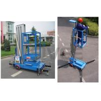 Buy cheap Aluminium Alloy Hydraulic Single Mast Lift Platforms 6m Platform Height product