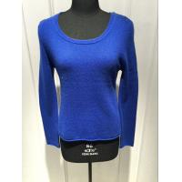 Cheap Round Neck Loose Royal Blue Sweaters For Women Spring / Autumn 2/28nm Yarn Count wholesale